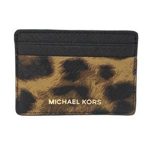 Michael Kors Money Pieces Leopard Card Holder